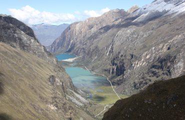Aussicht auf Llanganuco Seen